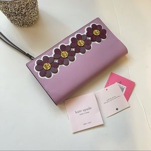 Kate Spade New York Floral Pattern Textured Wallet